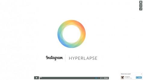 Screenshot of Hyperlapse promo video