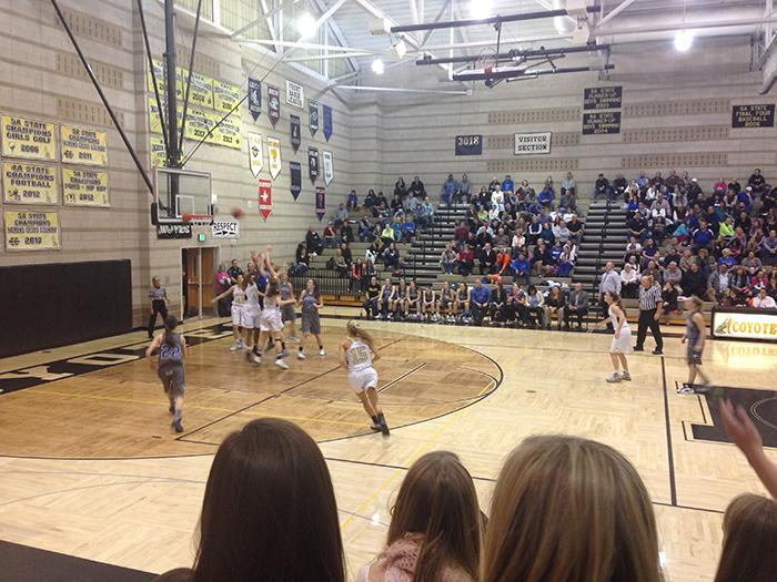 Reagan+Rohn+rushes+to+help+her+team+as+Broomfield+attempts+to+score+at+the+Monarch+girl%27s+basketball+pink+game.+Broomfield+beat+Monarch+65-52.