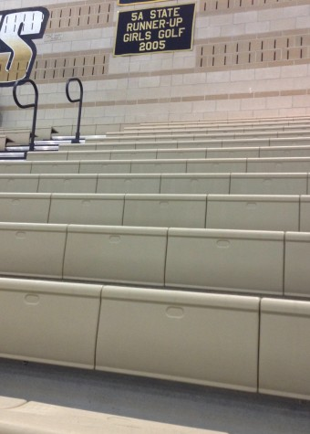 The back of the student section at the Monarch girls' basketball game on February 10th against Fairview.