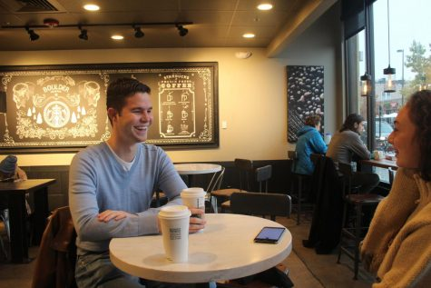 Dalton Valette '14 chats with reporter Samantha Sarmiento about his plans if elected Trustee. The election is on Nov. 6.