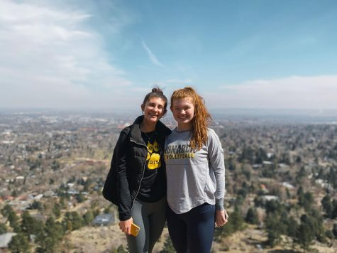 Kaelan Norgard and Ginevra Rattalino pose after a hike
