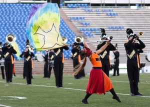 Monarch marching band performing at the 4A state championships this past weekend