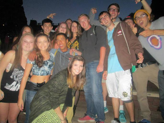Seniors pose for a photograph at Rowdytown II at Red Rocks Amphitheater on September 29th, 2013. Rowdytown II was on the same night as the Homecoming dance at Monarch High School.