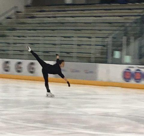 Nicole Gander practices figure skating.