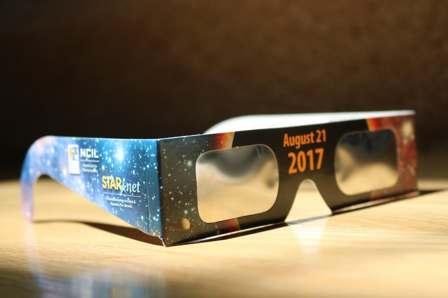 A pair of eclipse glasses