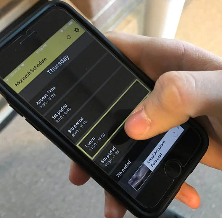 Student's app helps with new schedule
