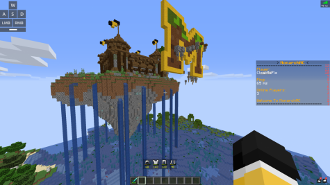 A screenshot of the Monarch Mincraft server, created by a team of MHS freshmen.