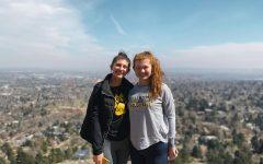 Kaelan Norgard and Ginevra Rattalino pose after a hike