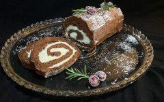 Bûche de Noël  (Yule Log Cake)